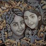 TAYGETA Huile sur toile 50 x50 cm