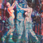 The Dance, Acrylic on canvas, 18 x 24 cm, 2016, SOLD, Private Collection