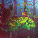 Dream of the Deer, Acrylic on canvas, 90 x 110 cm, 2007, SOLD, Private Collection Zutphen