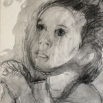 Prayer 8, charcoal on canvas, 20 x 20 cm, 2012, available at Deer Daddy - 300 euro