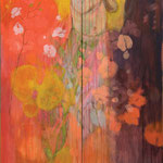 Flowering Krishna, diptych, Acrylic on canvas, 120 x 200 cm, 2012, SOLD, Private collection Nijbroek