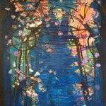 Blossoms, acrylic on canvas, 90 x 130 cm, 2011, SOLD, Private Collection Deventer