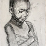 Prayer 7, charcoal on canvas, 20 x 20 cm, 2012, SOLD, Private Collection