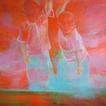 Children from the light, Acrylic on canvas, 160 x 140 cm, 2008, Available at Deer Daddy - 3300 euro