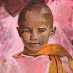 Monk 3, Acrylic on canvas, 50 x 40 cm, SOLD, Private collection in Munich