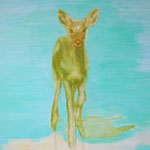 Green Deer id ready! Acrylic on canvas, 150 x 150 cm, 2007, SOLD, Private Collection Ootmarsum