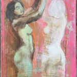Catch the dance, Acrylic on canvas, 30 x 70 cm, 2018, SOLD, Private Collection