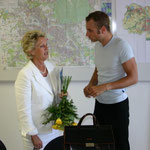 With the Chief Burgomaster of Frankfurt am Main, Petra Roth, 2005