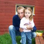 Mit meiner Nichte im Jahr 2006