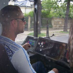 Driving a tram in Dresden 2007