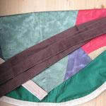 Wäscheklammersack grün mit braunem Bändel