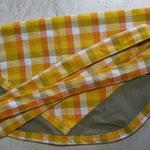 Wäscheklammersack sand mit gelbem Bändel