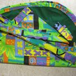 Wäscheklammersack grün mit blumen Bändel