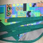 Wäscheklammersack silber mit grünem Bändel