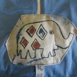 Sicherheitsdecke Elefanten hellblau