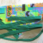 Wäscheklammersack sand mit grünem Bändel