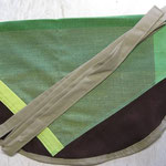Wäscheklammersack braun mit sand Bändel