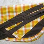 Wäscheklammersack braun mit braunem Bändel