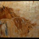 josee desharnais, chevaux  30 x 48