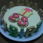 バースデーデコケーキ