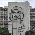 Plaza de la Revolucion : Façade du Ministère de l'Intérieur