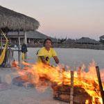 A Préa, la Pousada qui possède un deuxième établissement avait organisé une fête. Caïpirinha, feu et musique