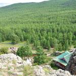Ermitage de Tuvkhun. Il fut construit pas Zanabazar le premier chef religieux de Mongolie
