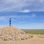 Övoo au milieu de la steppe