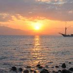 Coucher de soleil sur Maumere