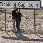 Nous avons franchi le tropique du Capricorne