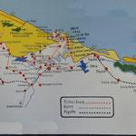 Carte de la côte entre Le Grand Lençois et Jericoacoara