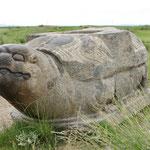 Statue de tortue, représentant la longévité. Il en reste aujourd'hui 3 sur 4. Elles marquaient les limites de la ville.