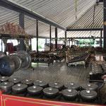 Nous avons aussi visité le Palais du Sultan à Yogyarkarta. Là les instruments de musique
