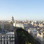 La Havane. Vue du 9ème étage de l'Hôtel