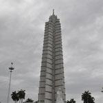 La Havane - Plaza de la Revolucion : le monument mémorial José Marti
