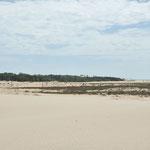 Ici on voit que l'ocean et le sable gagne du terrain