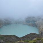 Le deuxième lac : le Tiwu Nuwa Muri Koo Fai (lac des jeunes hommes et jeunes filles), lac acide de couleur vert turquoise