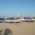 Retour à Bali. Plage de Sanur, les barques traditionnelles