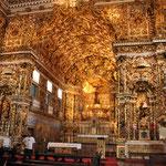 L'intérieur de l'Eglise de St François. Baroque Brésilien du XVIIIe Siècle