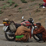 La moto est un des moyens de transports les plus répandus en Mongolie
