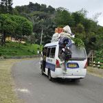 Les mini bus sont souvent chargés