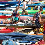 """A.Vargas. """"La playa de los kayaks""""."""