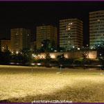 Vista nocturna de la Playa de las Moreras
