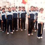 equipo del mundial de Mechelen 1985  Barea , Rubin , Ivan , Juan Costal, Juanjo, Carlos Prendes