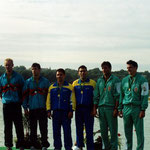 podium paris 1991. Juan Jose Roman y Juan Manuel Sanchez