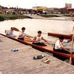 Campeonato del Mundo Mechelen 1985,  K4 Juan Manuel ; Juanjo ;  Fernando ; Ivan;