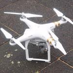 8:57 Uhr, Einsatz einer Drohne für Luftaufnahmen.