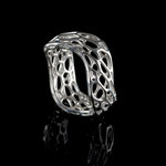 wave Ring Silber