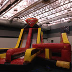 Bouncie castle and obsticle race at school
