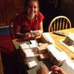 Wrapping soap with my Canadian mom